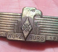 HJ Wurzburg 1934 Day Badge