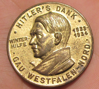 Gold Hitler's Dank Badge