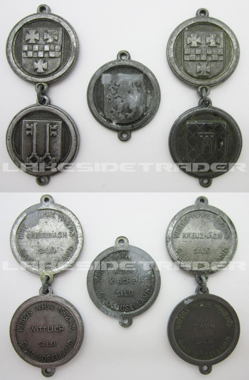 5pc Gau Moselland - Kriegs WHW 1942/43