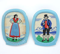 2 Embroidered Tinnies