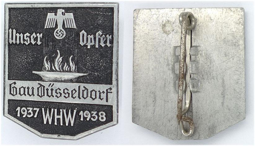 Unser Opfer Gau Düsseldorf 1937 WHW 1938
