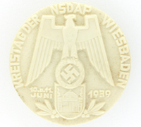 NSDAP Wiesbaden District Council Meeting Badge 1939