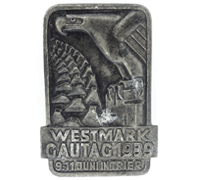 Westmark Gau Day Badge 1939