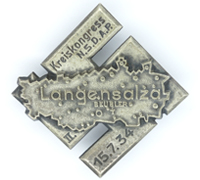NSDAP Langensalza District Congress Badge 1934