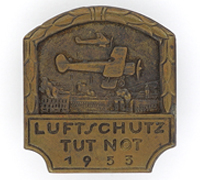 """RLB """"Air Raid Protection Against Emergencies"""" Badge 1933"""