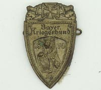 Bavarian Veteran Union 1874 Watch Fob