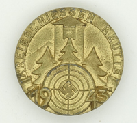Kreisschiessen Reutte 1943 Shooting Award