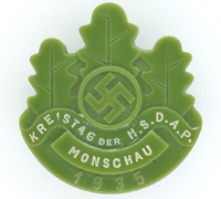 NSDAP Monschau Council Meeting Badge 1935