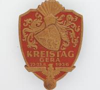 1936 Kreistag Gera badge