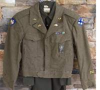 """Named US """"Ike"""" Field Jacket 65th Division Tank Destroyer Soldier"""