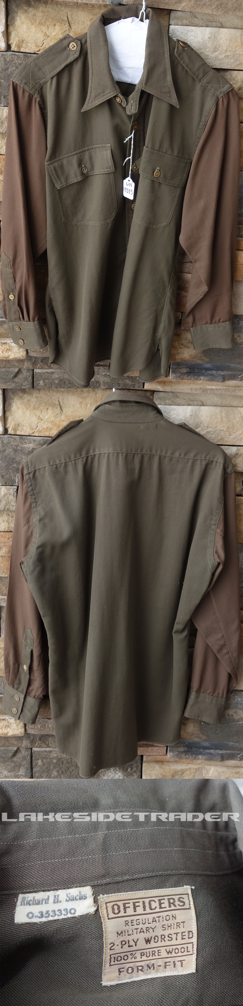 US Army Officer's long sleeve shirt