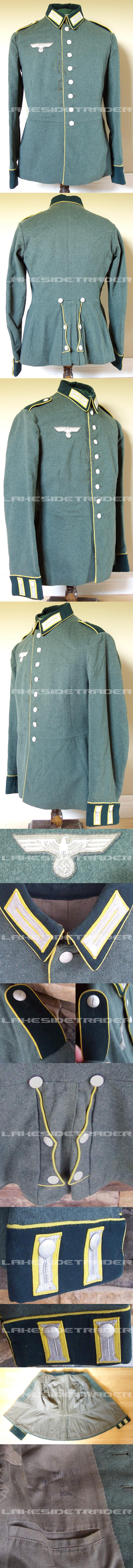Army Signals EM's M35 Dress Tunic