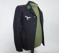Luftwaffe Obergefreiter Field Division Signals EM Service Tunic