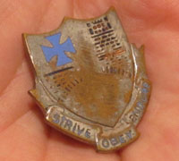 112th U.S. Infantry Regiment Coat of Arms Pin