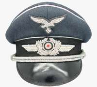 Luftwaffe Officers Visor Cap by Clemens Wagner