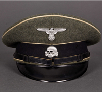 A Visor for NCO/EM of the Waffen SS