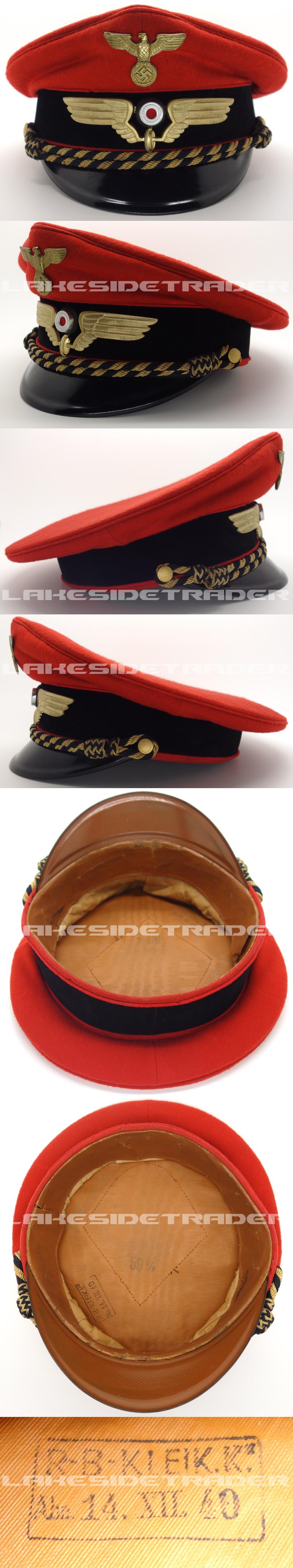 Railway Platform Supervisor Visor Cap