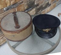 Imperial Japanese Navy officer's Visor and Case