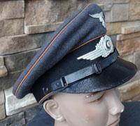 Luftwaffe Signals EM/NCO Visor Caps by Christian Haug